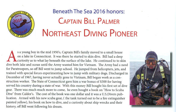 Captain Bill Palmer honored at Beneath the Sea 2016